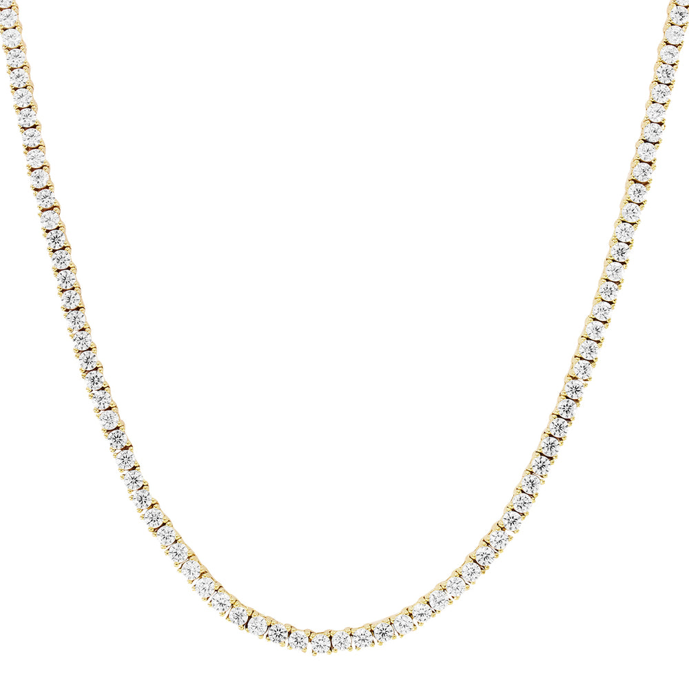 2MM 10K Gold Tennis Chain Solitaire Prong Set
