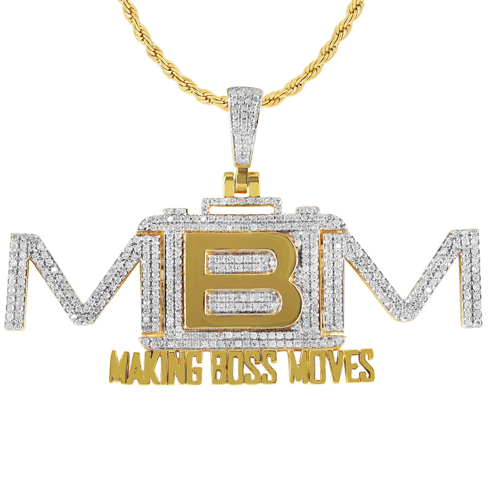 10K Gold Making Boss Moves Diamond Pendant