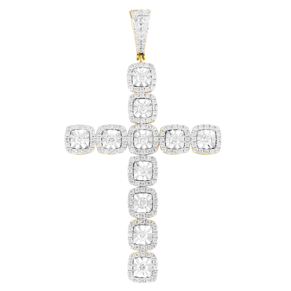Solitaire Fanuk Set Diamond Cross Pendant