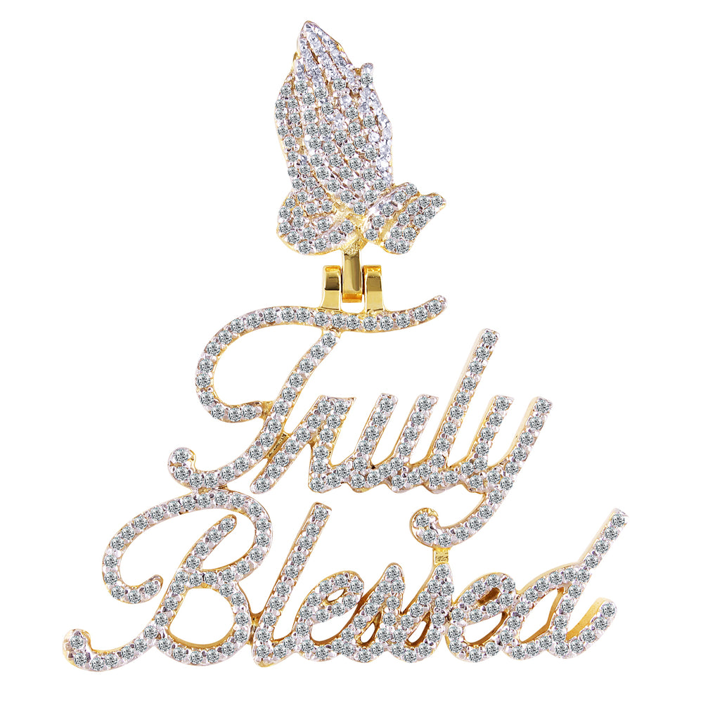 10K Yellow Gold Diamond Truly Blessed Pendant