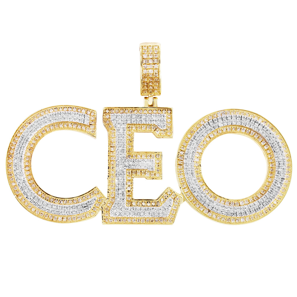 Diamond CEO Pendant 10K Yellow Gold