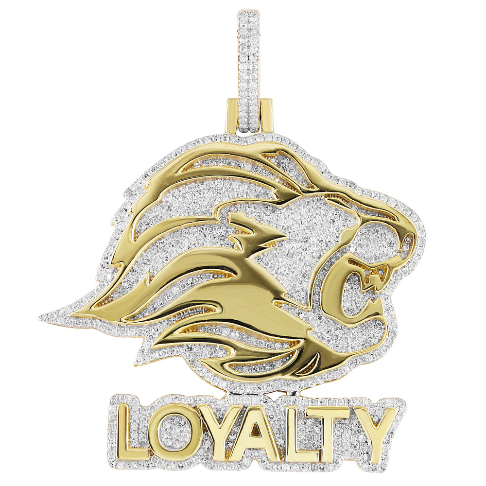 Diamond Lion Face Loyalty Pendant