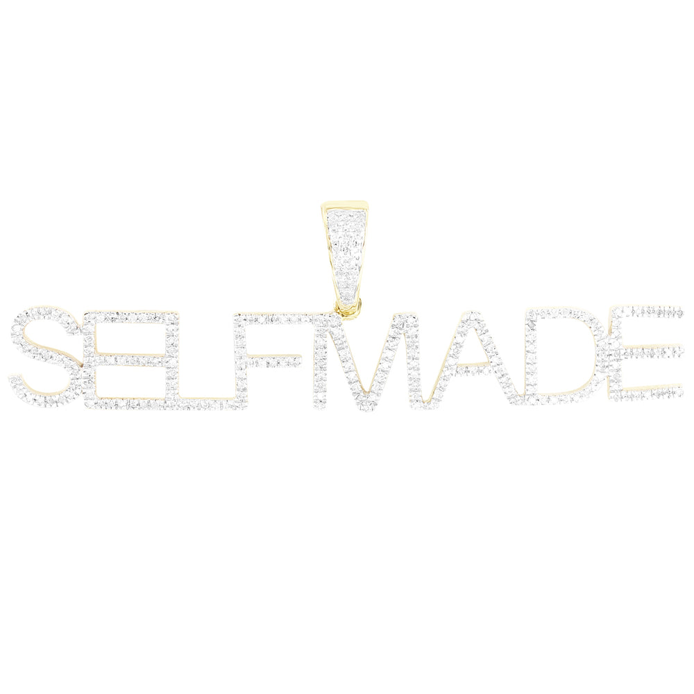 10K Gold SELFMADE Diamonds Initials Name Pendant