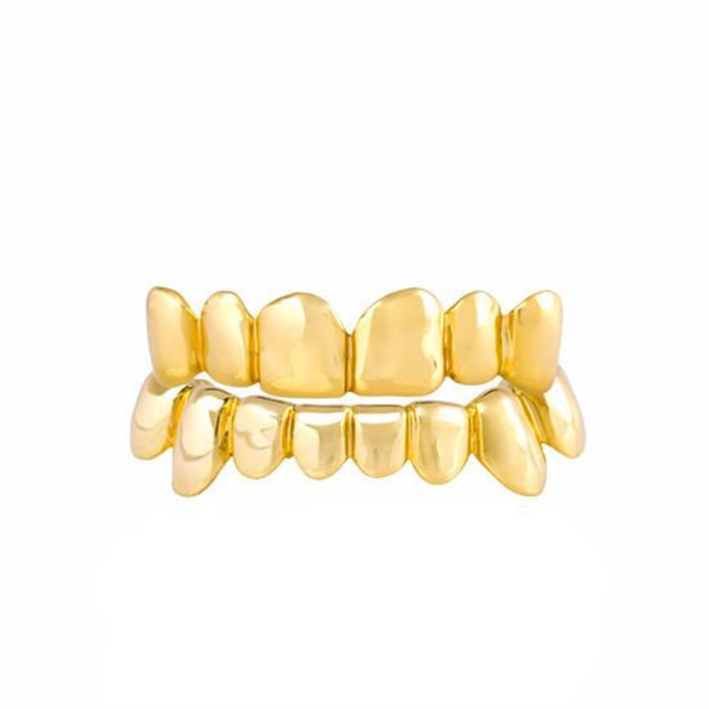 Deep Cuts Solid Gold Custom Grillz 10K 14K 18K