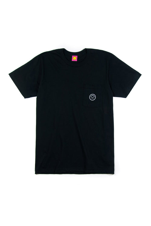 MOTTO POCKET TEE (BLACK)