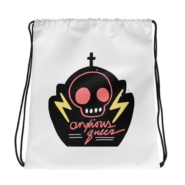 Anxious Queer - Drawstring Bag