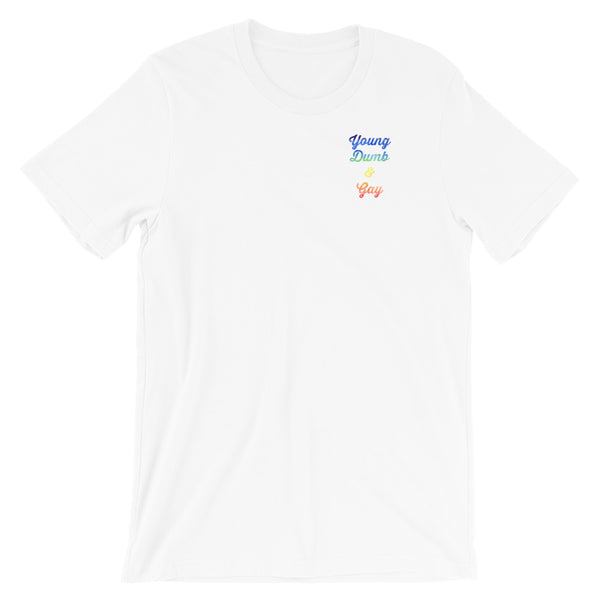 Limited Edition - Rainbow Young Dumb & Gay - Tee