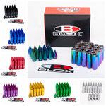 BLOX Spiked Aluminum 60MM Extended Tuner Wheel (Lug) Nuts M12x1.25 20 Piece Set