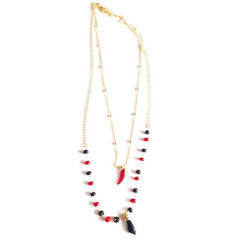 Azabache Layered  Necklace