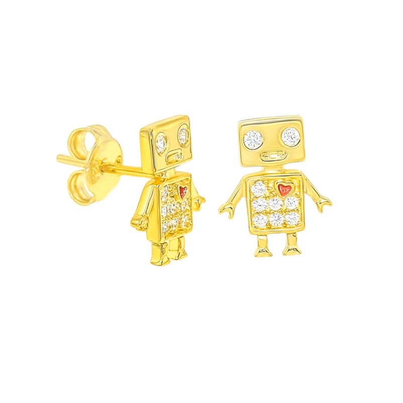 Mini Robot Earrings