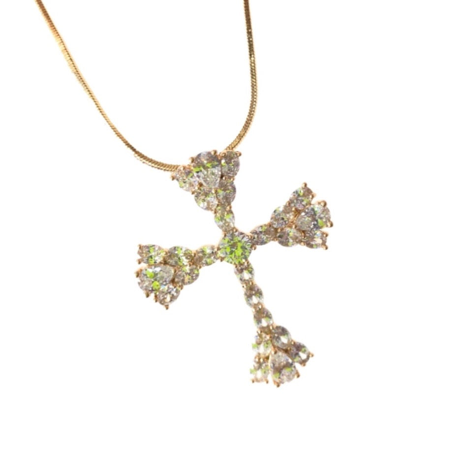 GALORE CROSS NECKLACE