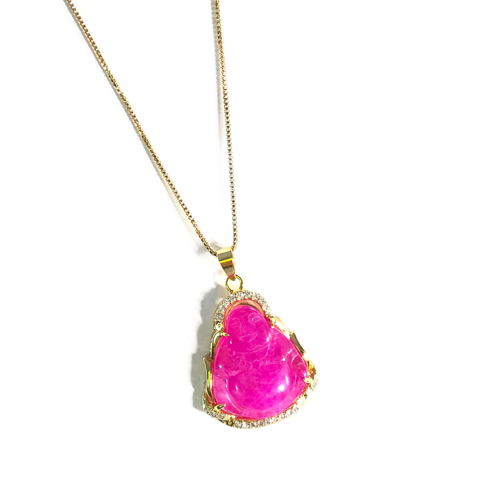 Pinkheartattack Buddha Necklace
