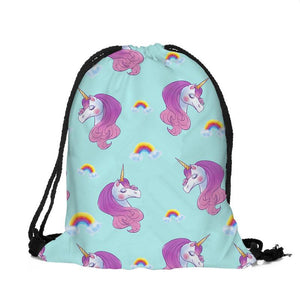 Lovely Unicorn String Bag - In Multiple Style