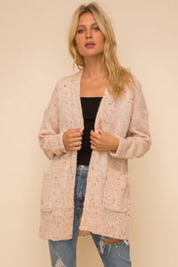 Pastel Color Long Cardigan Sweater