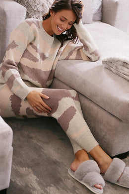 Desert Camo Knitted Lounge Top and Bottom