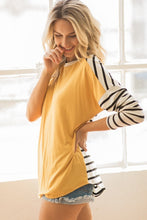 Stripe Contrast Solid Front Top