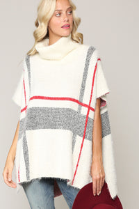 Oversized Turtle Neck Poncho