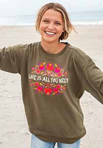 Love Is All You Need Sweatshirt With Pockets