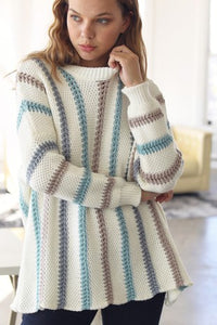 Jana Thick Knit Striped Sweater
