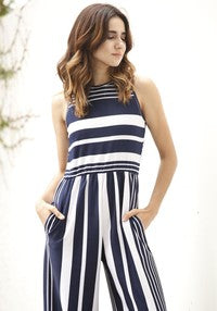 Multi Stripe Jump Suit