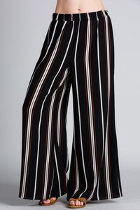 Multi Stripe Wide Leg Pants