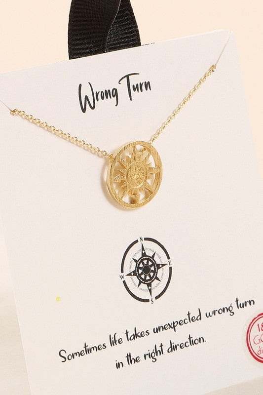 Wrong Turn Necklace