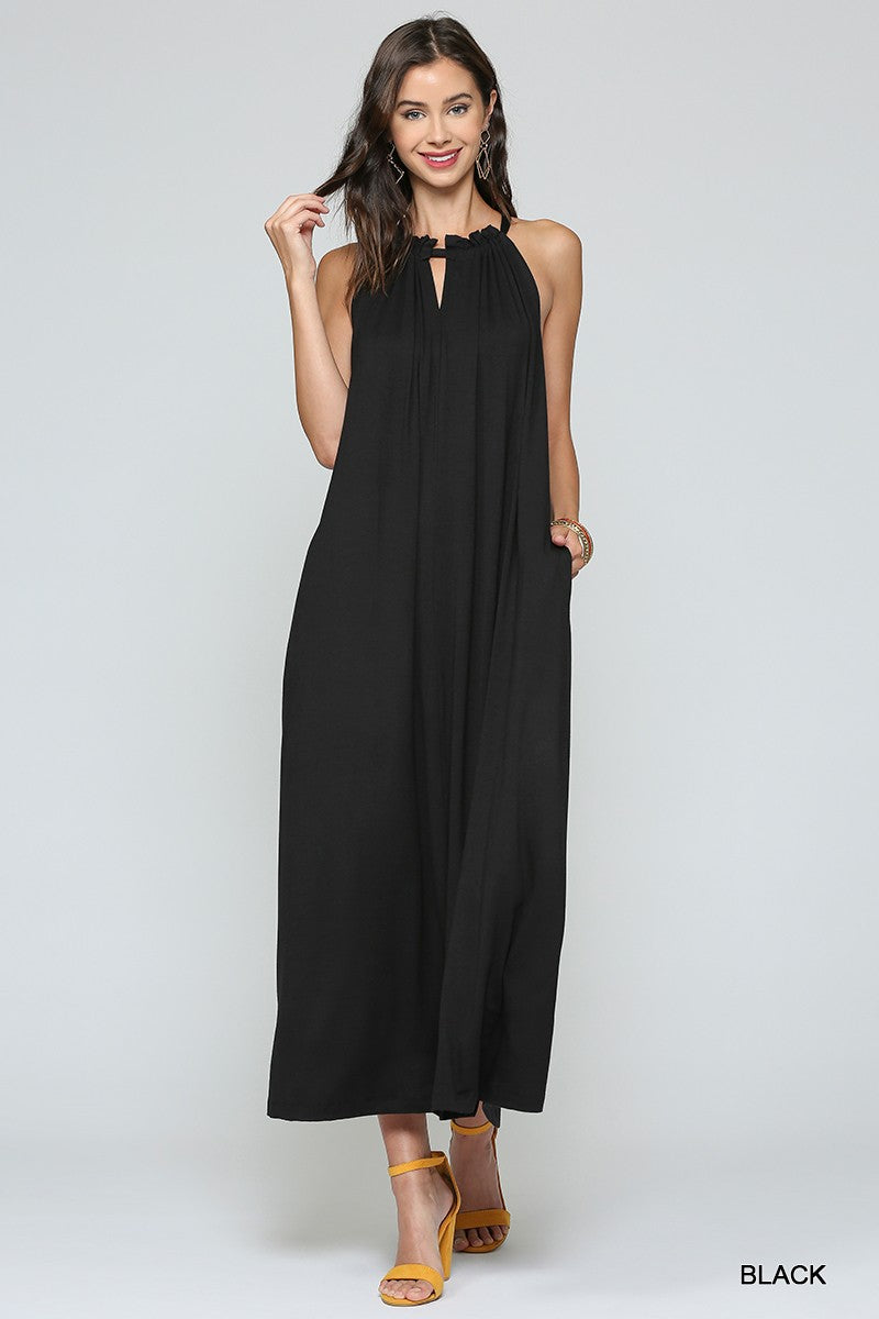 Halter Maxi Column Dress