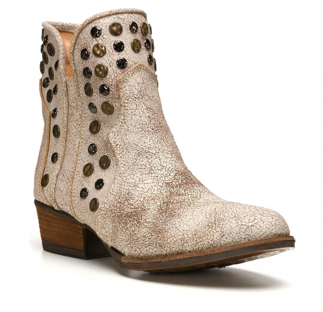 Toledo White Distressed Bootie