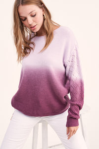 Becca Cool Dip-Dye Sweater, Drop Shoulder