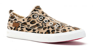 Leopard No Lace Slip On Shoe