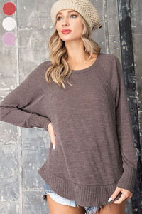 Gayle Mixed Knit top