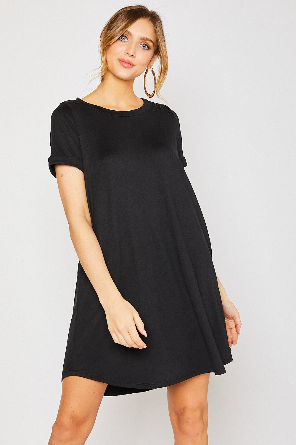 Round Neck Short Sleeve Dress