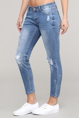 Destructive Skinny fit denim