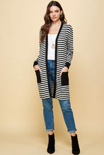 Ava Striped Cardigan With Pockets