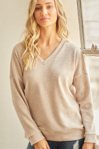 Knit Top With Drop Shoulder