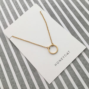 Single Open Circle Necklace