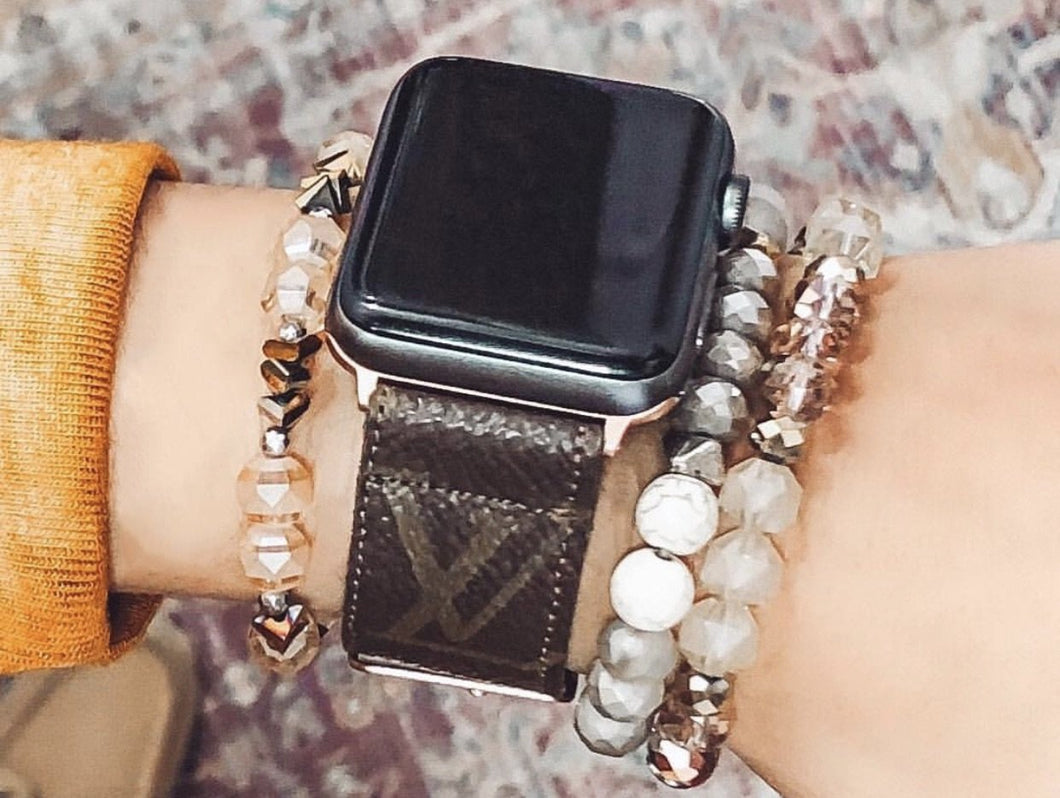 LV monogram Apple watch band