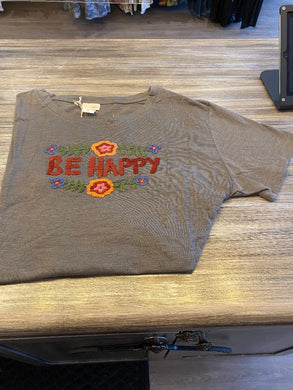 S/S T Shirt Be Happy