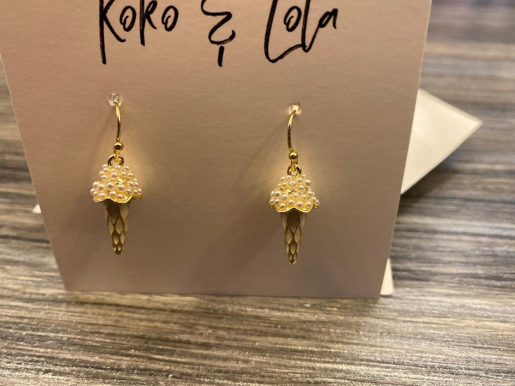 Mini Pearl Ice Cream Drop Earrings