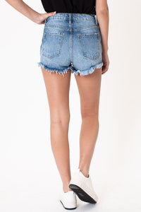 Ryleigh High Rise Rainbow Thread Shorts