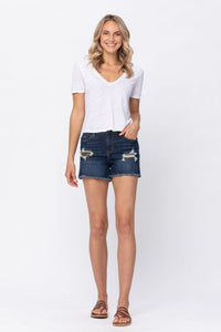 Shelly Mid Rise Camo Patch Shorts