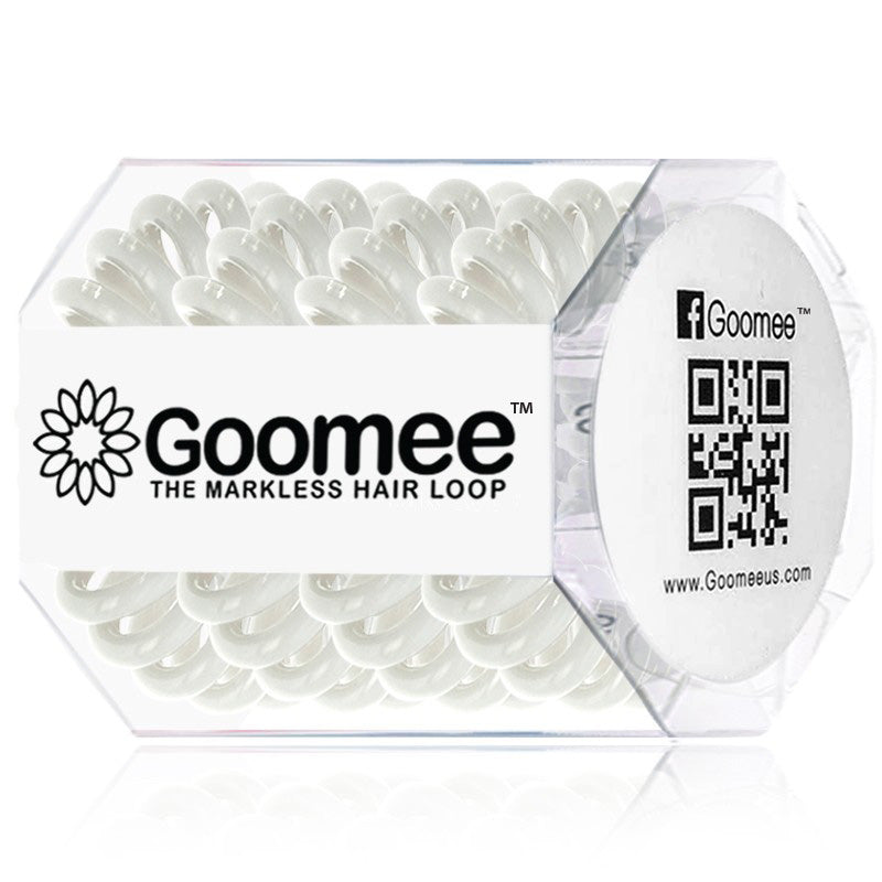 Goomee | The Markless Hair Loop in Pearly White Pk of 4