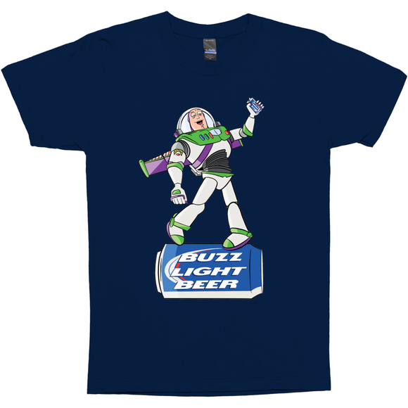 Buzz Light Beer - Toy Story Funny Party T-Shirt Gift - punpantry