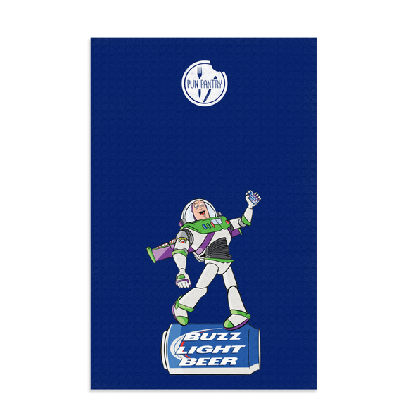 Buzz Light Beer Dish Towel - punpantry