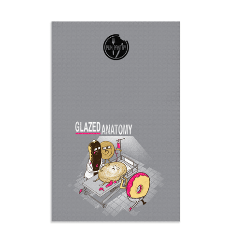 Glazed Anatomy Dish Towel - punpantry