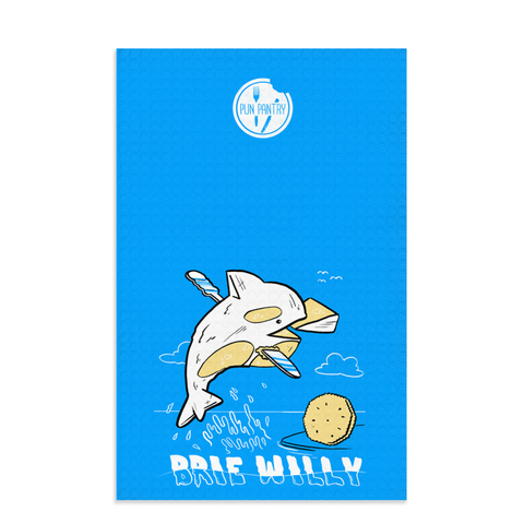 Brie Willy Dish Towel - punpantry