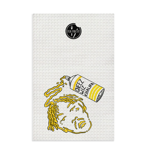 Cheez Wiz Khalifa Dish Towel - punpantry