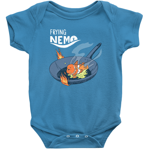 Frying Nemo Baby Onesie - punpantry