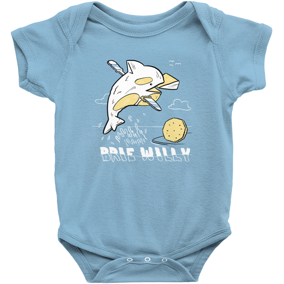 Brie Willy Baby Onesie - punpantry