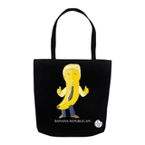 Banana Republican Tote Bag (Black) - punpantry